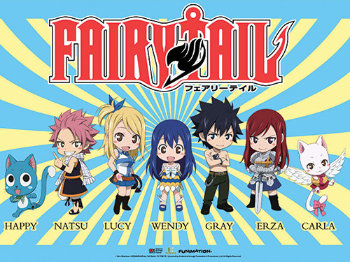 Fairy Tail - Chibi Cast Wallscroll