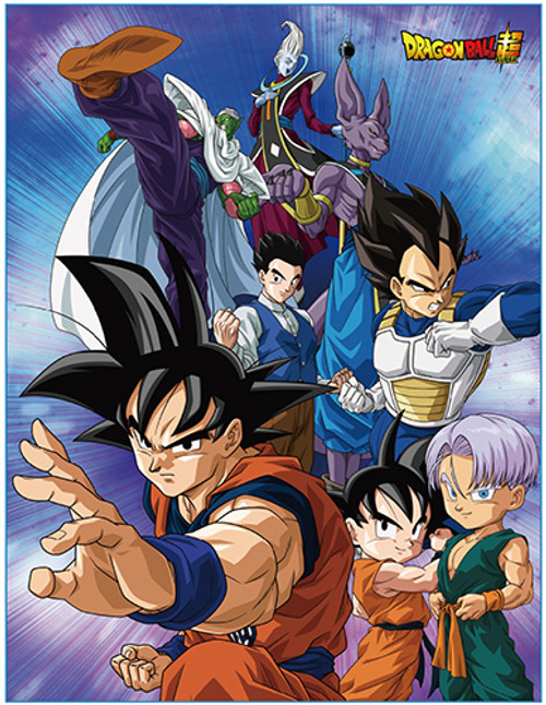 Dragon Ball Super - Z Fighters Preparing For Battle Throw Blanket