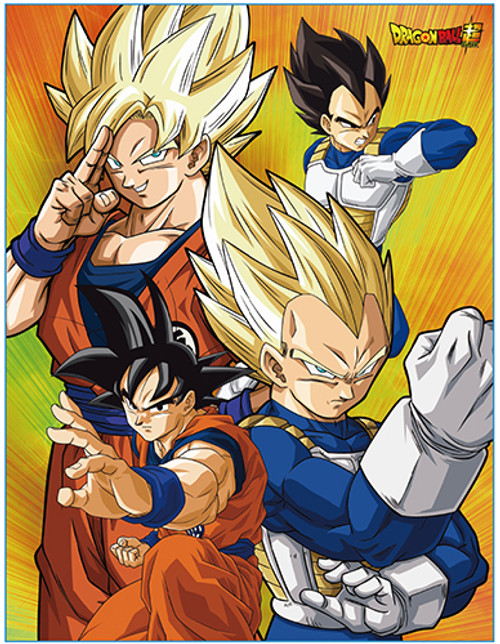 Dragon Ball Super - Goku and Vegeta Throw Blanket