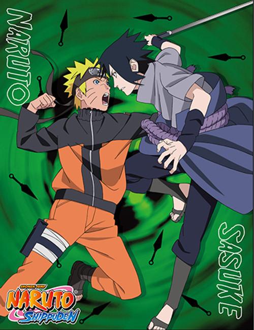 Naruto - Naruto vs. Sasuke Throw Blanket