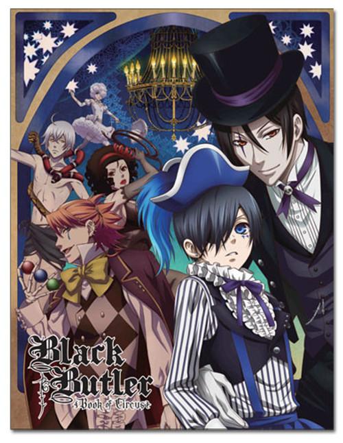 Black Butler - Ciel & Sebastian Circus Throw Blanket