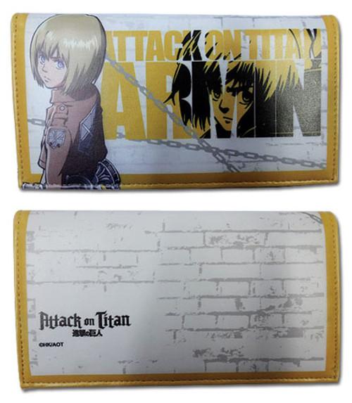 Attack on Titan - Armin Yellow Snap Wallet