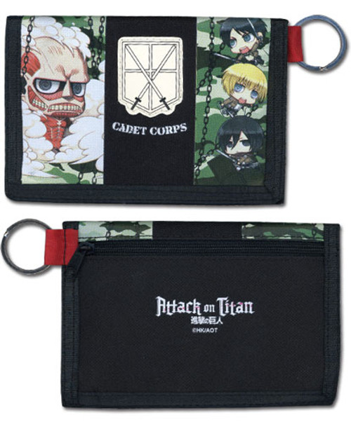Attack on Titan - Group Wallet With Key Ring