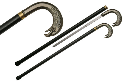 Curved Avian Sword Cane