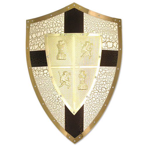Medieval Lion Heart Shield