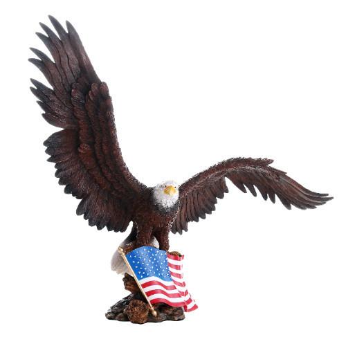 "18.75"" Spectacular Eagle with Flag"