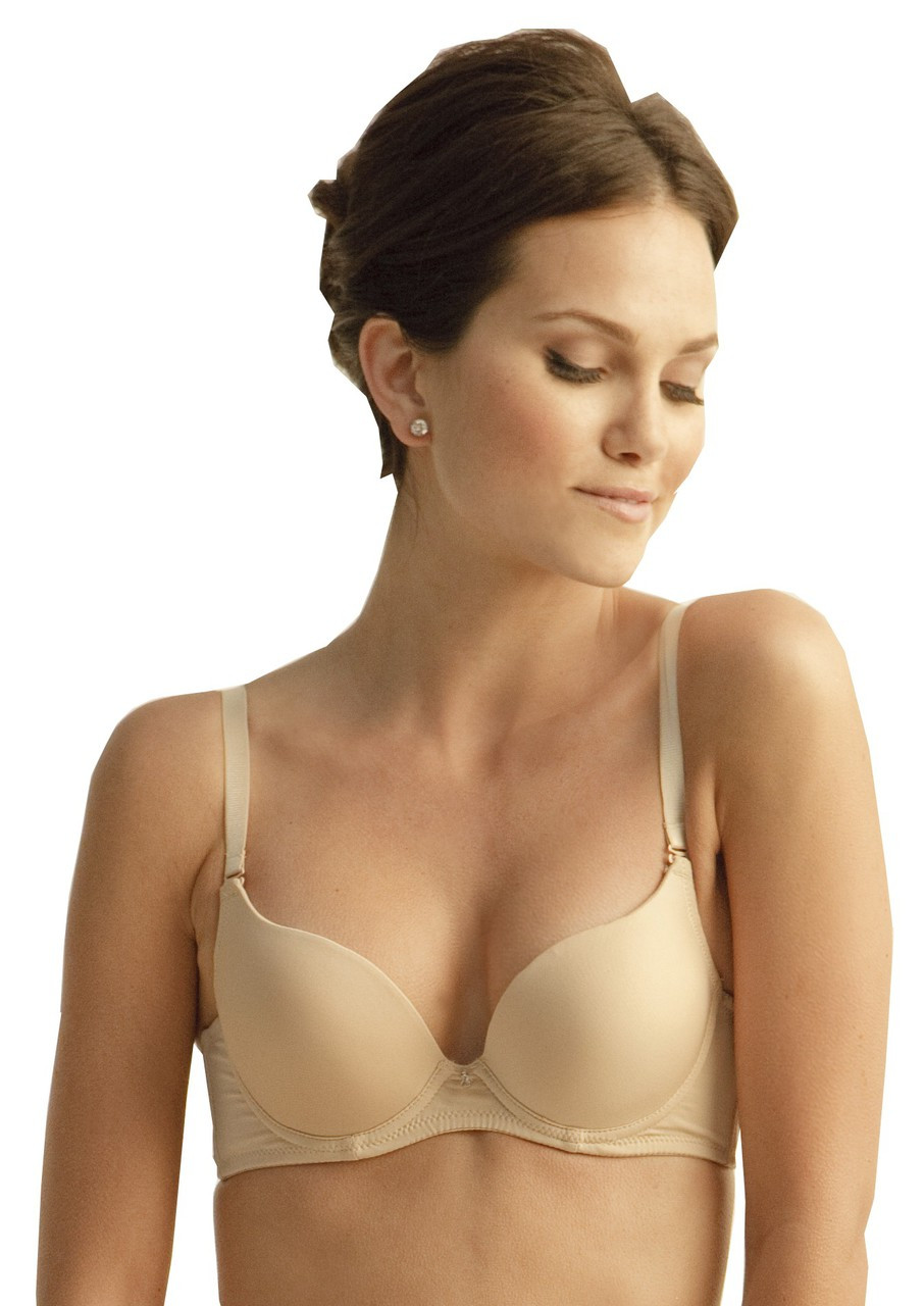 e212f574794e4 The Little Bra Company Isis Padded Demi Bra in Nude