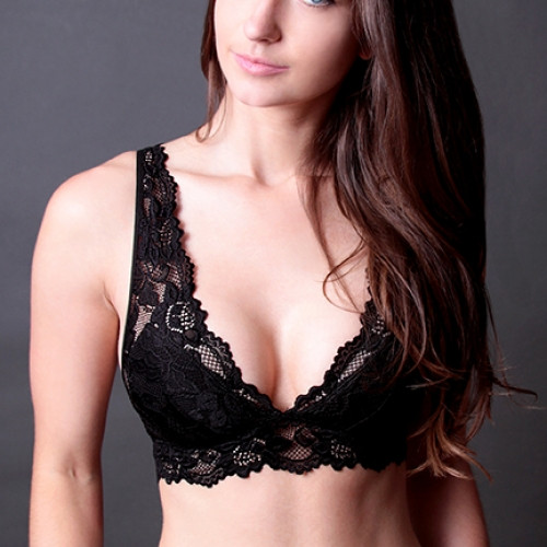 65e1fd48eb07e Coobie Undie Couture Wide Strap Lace Bralette