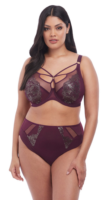 Elomi Eugenie Plunge Bra 4470 Womens Underwired Non-Padded Bras Gilded Berry