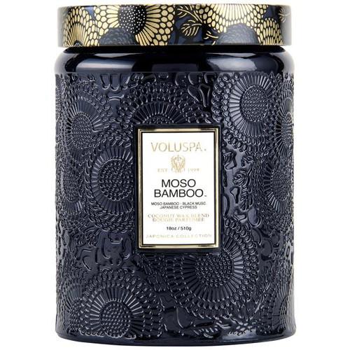 Voluspa Moso Bamboo Large Jar Candle