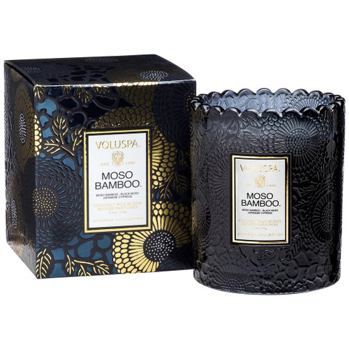Voluspa Moso Bamboo Scalloped Edge Candle