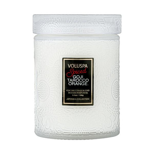 Voluspa Spiced Goji Tarocca Orange Small Jar Candle