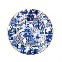 GARDEN PARTY BLUE DESSERT PLATE / 4 PACK