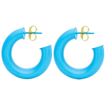 GAME DAY SMALL CHANTAL HOOPS / BLUE PAINTED