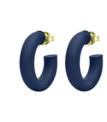 GAME DAY SMALL CHANTAL HOOPS / DARK BLUE PAINTED