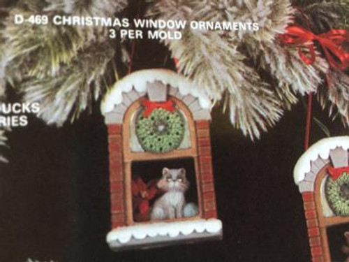 "Dona's 469 Christmas Window Ornaments (3), 4""H"
