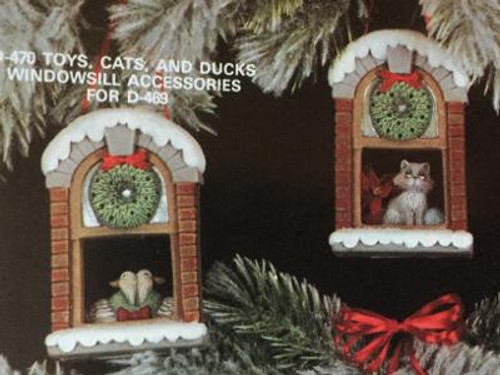 """Dona's 470 Toys, Cat, Duck Acc. w/D469, 2""""H"""