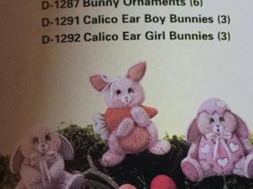"Dona's 1287 6-Bunny Ornaments, 4""H"