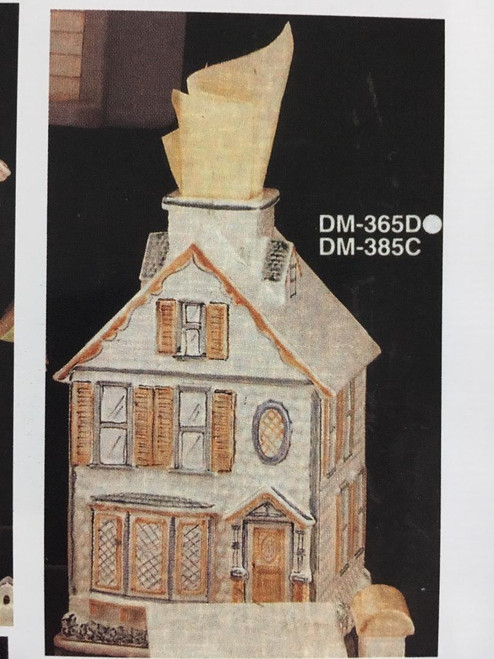 "DM0365D Victorian House Tissue 9""T"