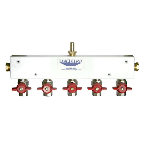 Five Port Manifold Assembly -  Aluminum