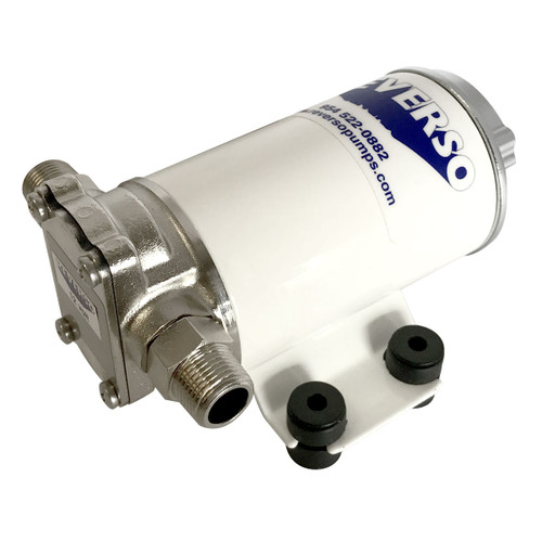 "Low Speed 301 Pump with Logo and 3/8"" Fittings 24v"