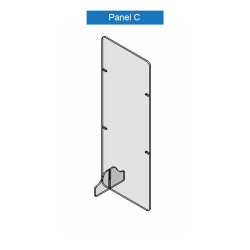 Virus Shield Barrier Panel C