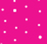 White Polka Dots on Hot Pink