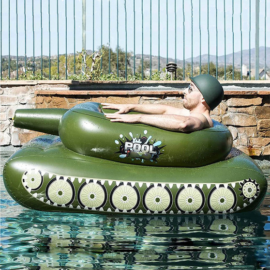 Inflatable Tank Pool Float With Water Cannon