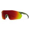 Smith Reverb Sunglasses - Matte Moss w/ Chromapop Red Mirror