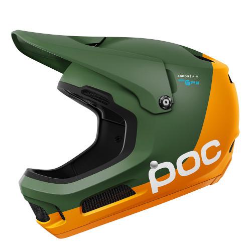 POC Coron Air SPIN Helmet - Septane Green/Zink Orange