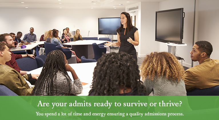 header image: Are your admits ready to survive or thrive