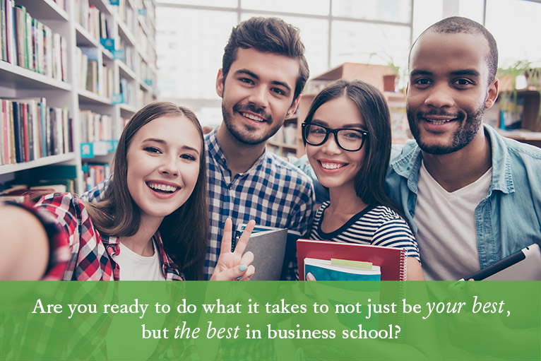 header image: Are you ready to be THE BEST in business school?