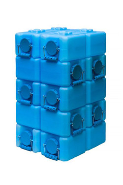 Waterbrick storage containers easily stack