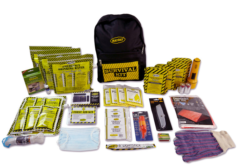Deluxe 4 person emergency backpack