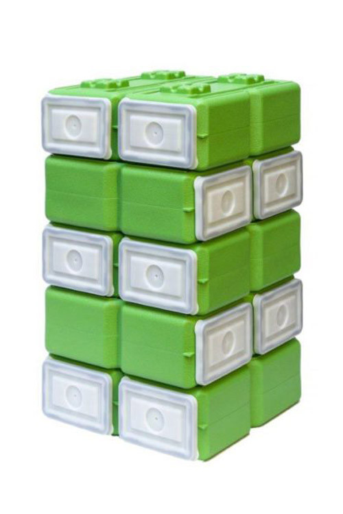 TWO FoodBrick Stackable Interlocking 3.5 Gallon Food//Storage Container