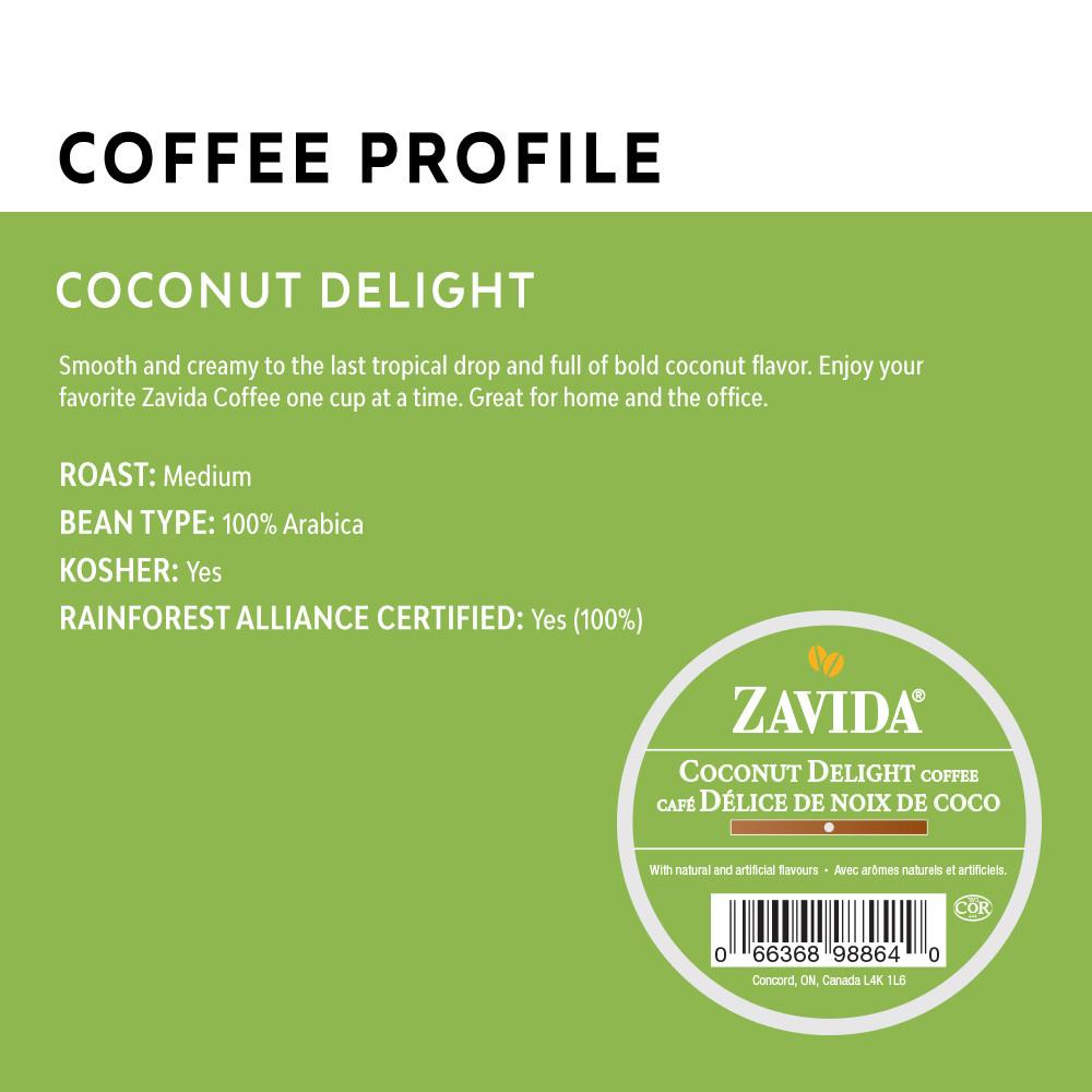 Coconut Delight Single Serve Coffee Cups - 24ct