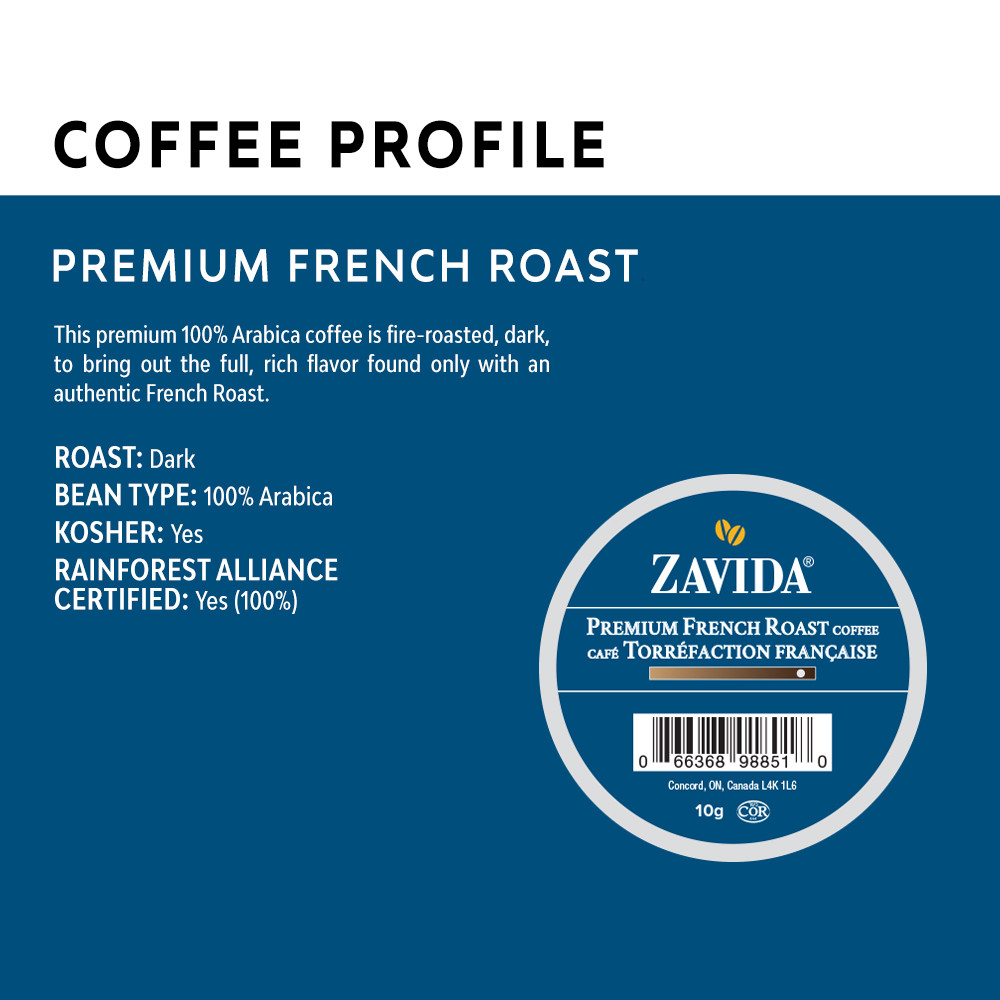 Premium French Roast Single Serve Coffee Cups - 24ct
