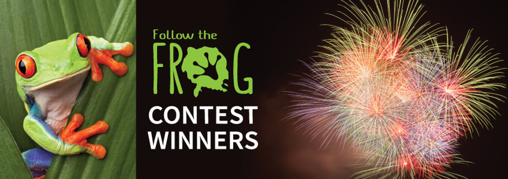 The #followthefrog Contest Winners are In!