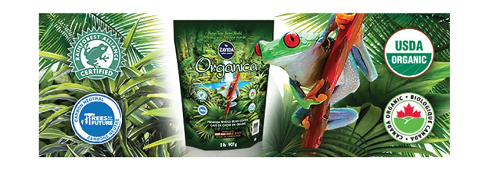 Organica Coffee – New Packaging Design, Same Great Taste