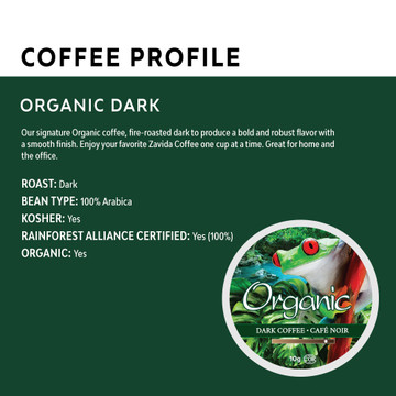 Organica Dark Roast Single Serve Coffee Cups - 24ct