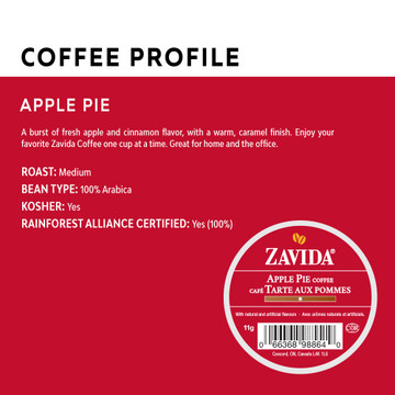 Apple Pie Single Serve Coffee Cups - 24ct