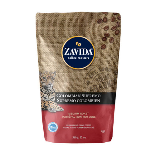 Zavida Coffee, Colombian Supremo, 12 oz Bag