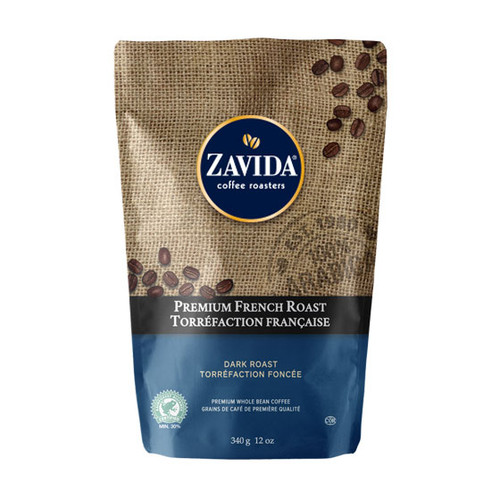 Zavida Coffee, Premium French Roast, 12 oz Bag