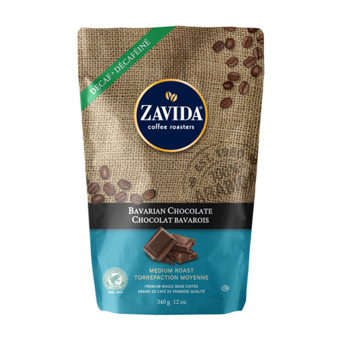 Zavida Coffee, Decaf Bavarian Chocolate, 12 oz Bag