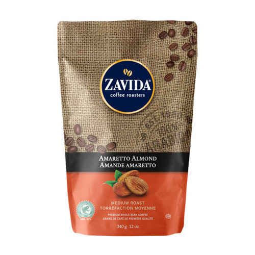 Zavida Coffee, Amaretto Almond, 12 oz Bag