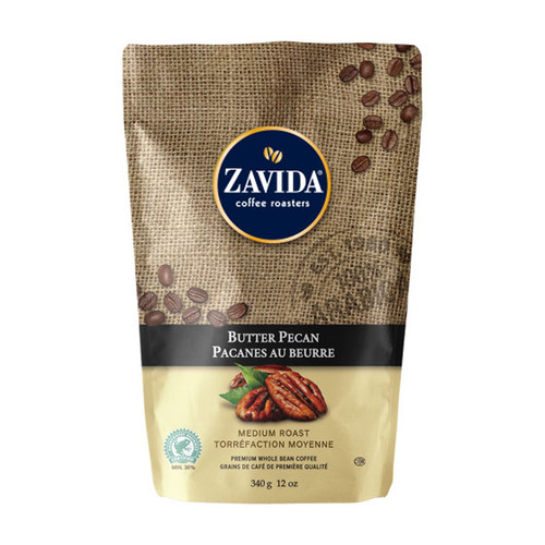 Zavida Coffee, Butter Pecan, 12 oz Bag