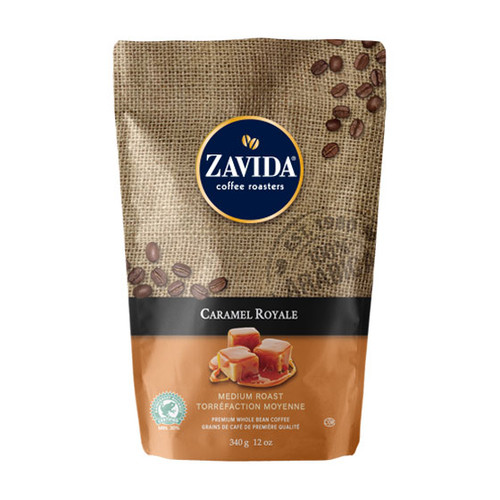 Zavida Coffee, Caramel Royale, 12 oz Bag