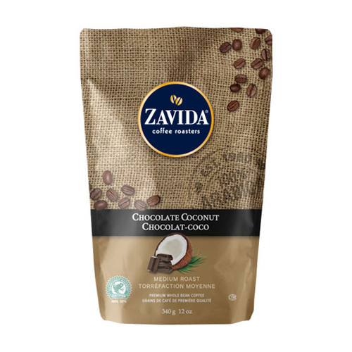 Zavida Coffee, Chocolate Coconut, 12 oz Bag