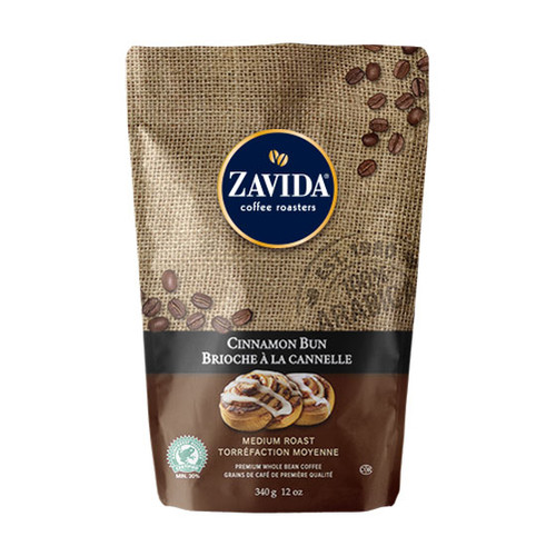 Zavida Coffee, Cinnamon Bun, 12 oz Bag