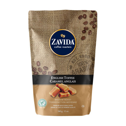 Zavida Coffee, English Toffee, 12 oz Bag